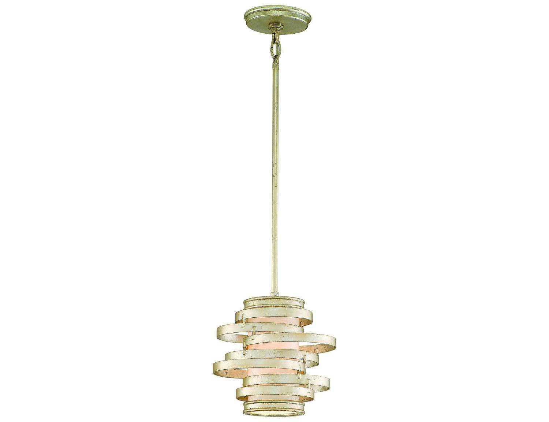 corbett lighting vertigo modern silver fluorescent pendant
