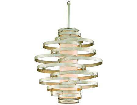 Corbett Lighting Vertigo Two-Light Modern Silver Pendant