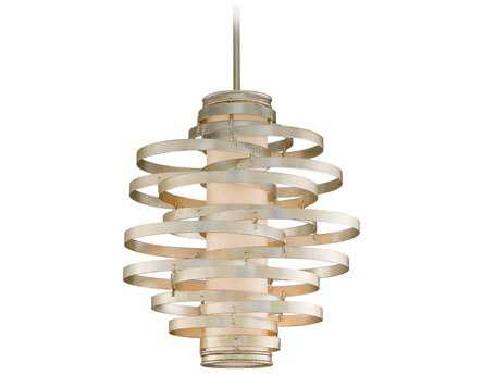 Corbett Lighting Vertigo Three-Light Modern Silver Pendant
