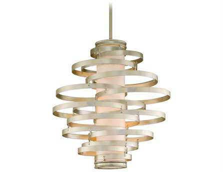 Corbett Lighting Vertigo Four-Light Modern Silver Pendant