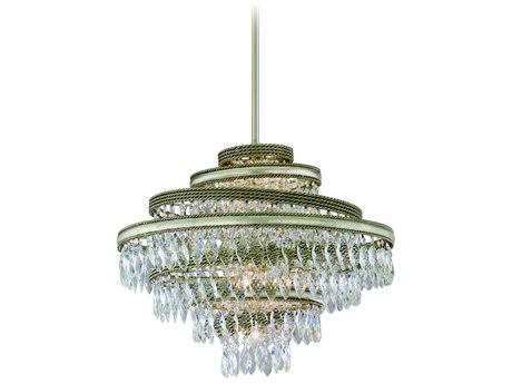 Corbett Lighting Diva Silver Leaf / Gold Leaf Four-Light 18'' Wide Pendant Light