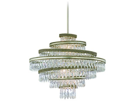 Corbett Lighting Diva Silver Leaf / Gold Leaf Five-Light 24'' Wide Pendant Light