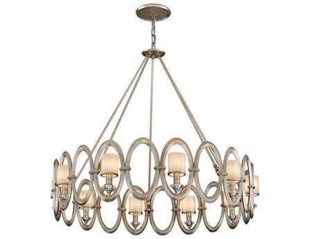 Corbett Lighting Embrace Ten-Light Satin Silver Leaf Pendant
