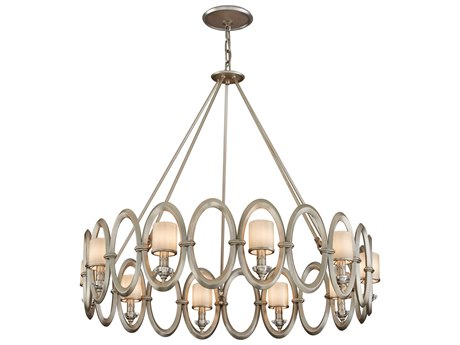 Corbett Lighting Embrace Satin Silver Leaf Ten-Light 40'' Wide Chandelier