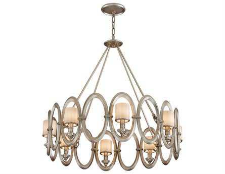Corbett Lighting Embrace Eight-Light Satin Silver Leaf Pendant
