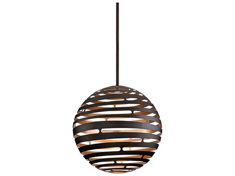 Corbett Lighting Tango Textured Bronze / Warm Silver Leaf 30'' Wide LED Pendant Light