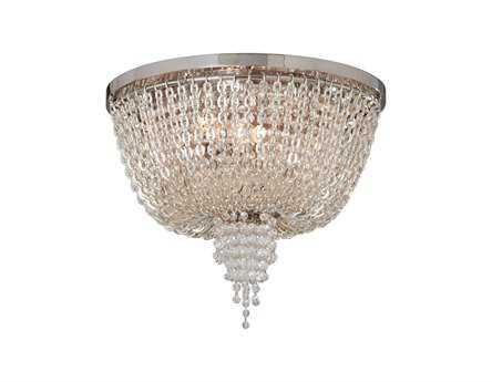 Corbett Lighting Vixen Two-Light Polished Nickel Flush Mount Light