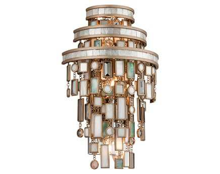 Corbett Lighting Dolcetti Three-Light Silver Wall Sconce