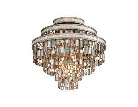 Corbett Lighting Dolcetti Three-Light Silver Semi-Flush Mount Light