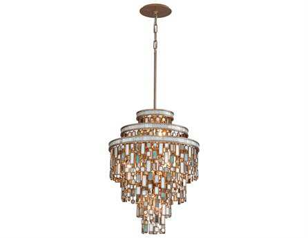 Corbett Lighting Dolcetti Seven-Light Silver Pendant
