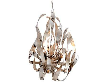 Corbett Lighting Graffiti Two-Light Silver Leaf Wall Sconce