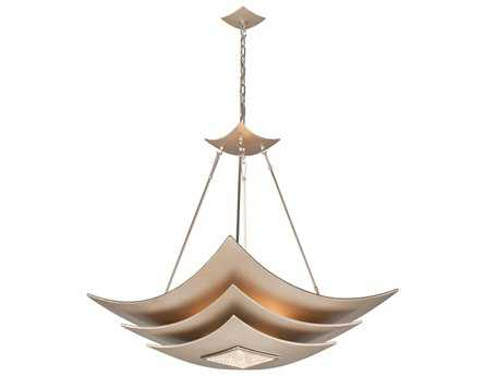 Corbett Lighting Muse Six-Light Tranquility Silver Leaf Pendant