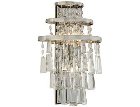 Corbett Lighting Illusion Two-Light Silver Leaf Wall Sconce
