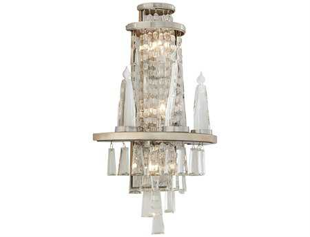 Corbett Lighting Illusion Six-Light Silver Leaf Wall Sconce
