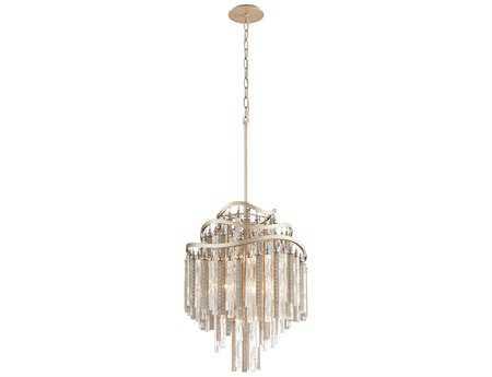 Corbett Lighting Chimera Seven-Light Tranquility Silver Leaf Pendant