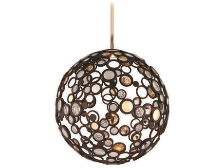 Corbett Lighting Fathom Bronze / Polished Brass and Stainless 23'' Wide LED Pendant Light