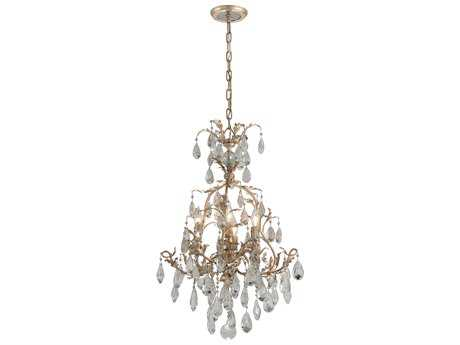 Corbett Lighting Vivaldi Venetian Leaf Four-Light Chandelier
