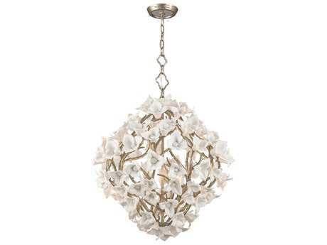 Corbett Lighting Lily Enchanted Silver Leaf 26.25'' Wide Pendant Light