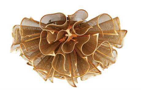 Corbett Lighting Pulse Gold Leaf 23.25'' Wide LED Semi-Flush Mount Light with Hand-Crafted Iron