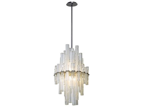 Corbett Lighting Manhattan Satin Silver Leaf Two-Light 18'' Wide LED Pendant Light