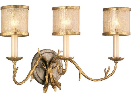 Corbett Lighting Parc Royale Gold and Silver Leaf Three-Light 22'' Wide Wall Sconce
