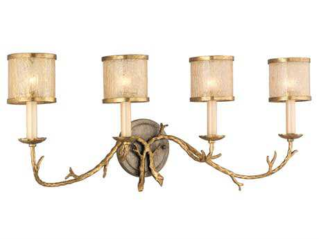 Corbett Lighting Parc Royale Four-Light Gold and Silver Leaf Bath Light
