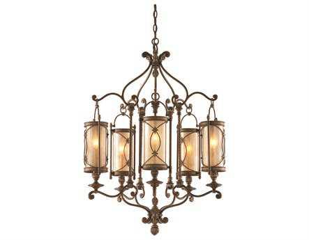 Corbett Lighting St Moritz Five-Light 27'' Wide Moritz Bronze Chandelier