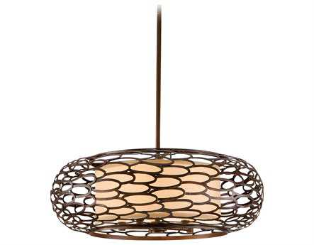 Corbett Lighting Cesto Five-Light Napoli Bronze Pendant