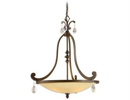 Corbett Lighting Roma Four-Light Classic Bronze Inverted Pendant