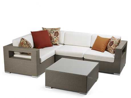 Caluco 10 Tierra Wicker Lounge Set CU10TLNGESET3
