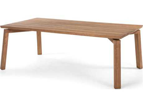 Caluco La.la. Natural Sanded Teak 84''W x 42''D Rectangular Dining Table