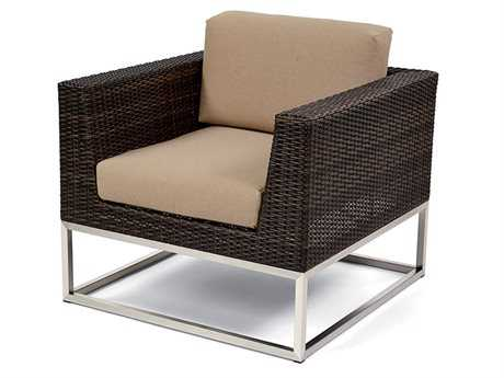 Caluco Mirabella Wicker Cushion Arm Lounge Chair