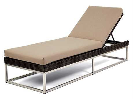 Caluco Mirabella Wicker Cushion Side Adjustable Chaise Lounge