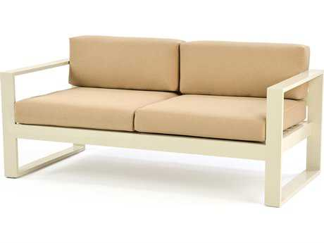 Caluco Space Cast Aluminum Loveseat