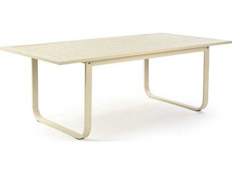 Caluco Space White Aluminum 84''W x 42''D Rectangular Dining Table