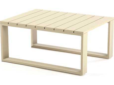 Caluco Space White Aluminum 32''W x 24''D Rectangular Coffee Table