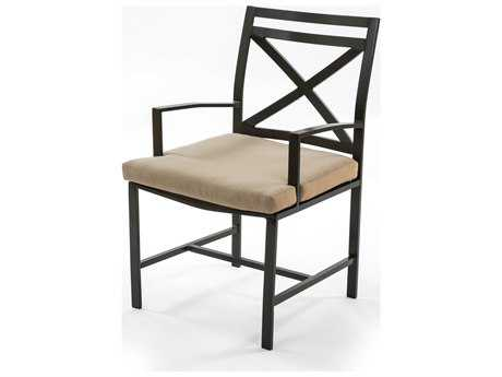 Caluco San Michele Aluminum Cushion Arm Dining Chair