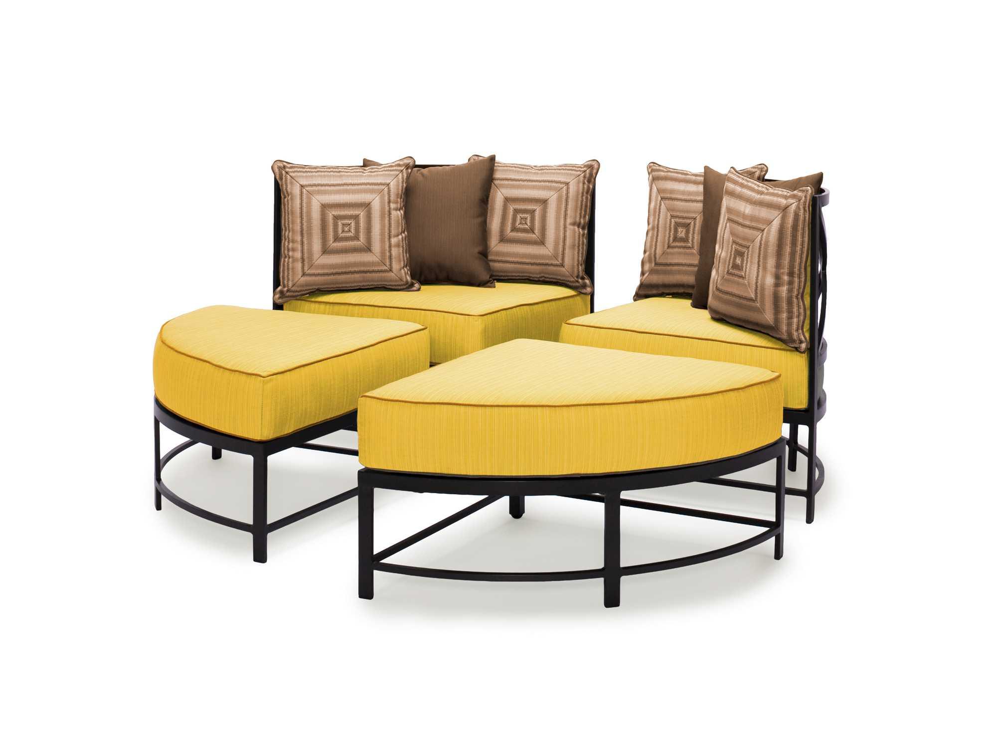 Caluco san michele aluminum conversation lounge cushion set 710 21rc - Conversation set replacement cushions ...