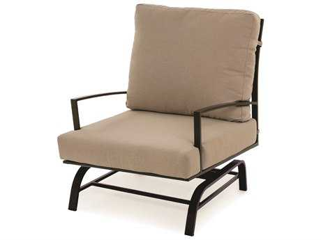 Caluco San Michele Aluminum Cushion Arm Glider Lounge Chair