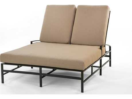 Caluco San Michele Aluminum Cushion Arm Adjustable Double Chaise Lounge