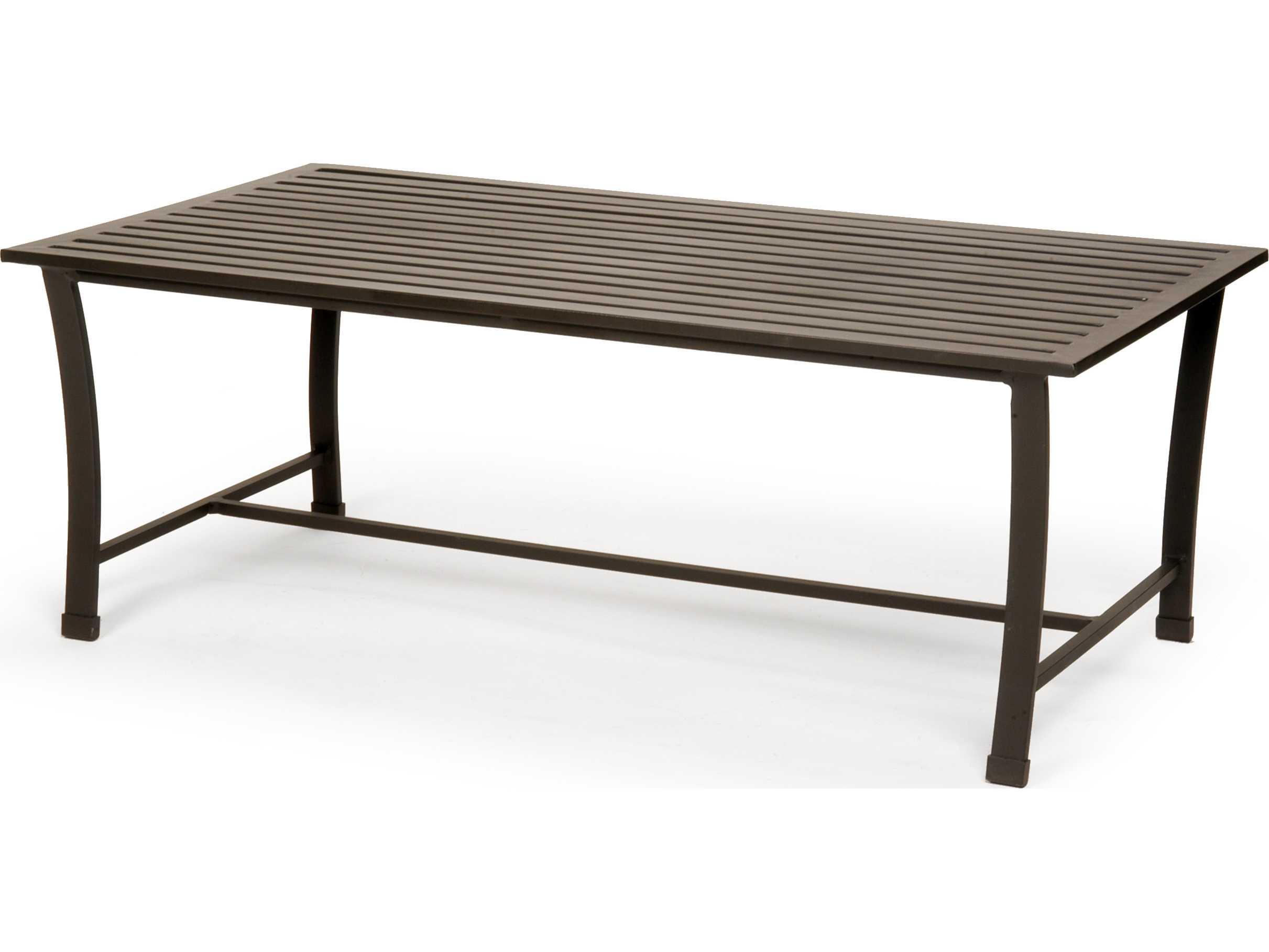 Caluco San Michele Aluminum 44 X 24 Rectangular Metal Coffee Table Cu710f