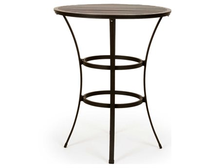 Caluco San Michele Aluminum 32 Round Metal Bar Table