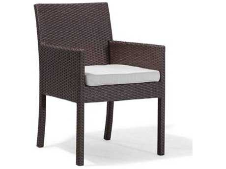 Caluco Dijon Wicker Majestic Black Dining Arm Chair PatioLiving