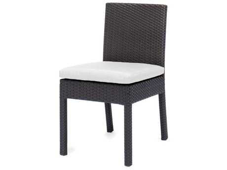 Caluco Dijon Wicker Majestic Black Dining Side Chair PatioLiving