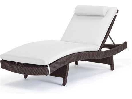 Caluco Dijon Wicker Majestic Black Curved Single Chaise Lounge PatioLiving