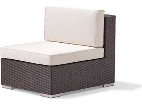 Caluco Dijon Wicker Majestic Black Modular Lounge Chair PatioLiving