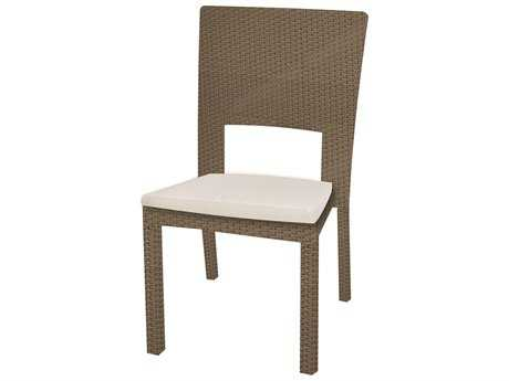 Caluco 10 Tierra Wicker Mocaccino Dining Side Chair PatioLiving