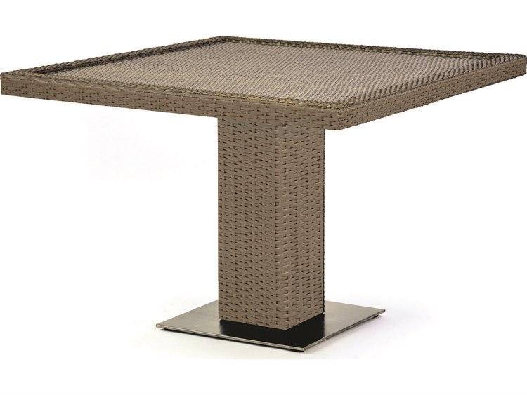 Caluco 10 Tierra Wicker 42 Wide Square Pedestal Dining Table Cu829d42
