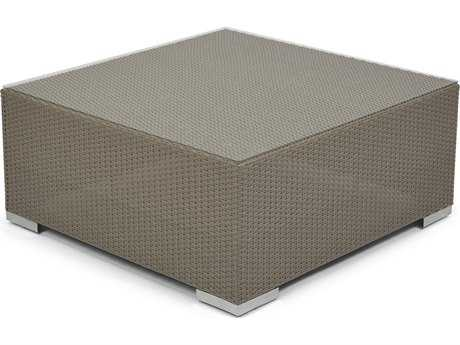Caluco 10 Tierra Wicker Mocaccino 37''Wide Square Coffee Table PatioLiving