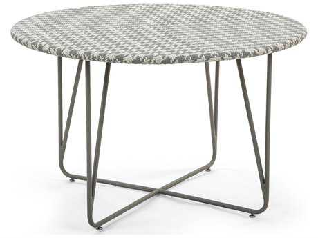Caluco Encanto Wicker & Steel 48'' Wide Round Dining Table